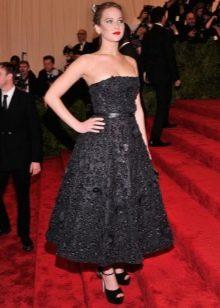 Вечернее платье-бюстье в стиле нью лук