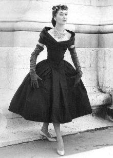 Объемные юбли платьев от Кристиан Диор в стиле нью лук