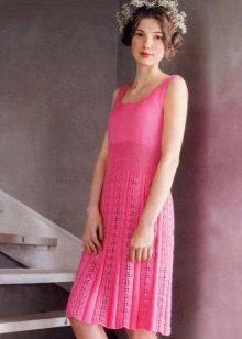 Вязаное плиссированное платье