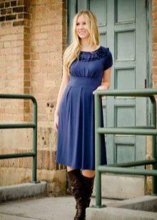 Повседневное платье с завышенной талией для полных