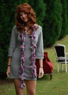 Серное теплое повседневное платье