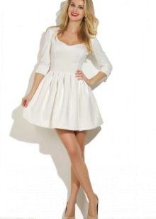 Платье расклешенное с юбкой со складками