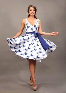 Платье расклешенное с юбкой солнце