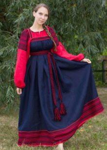 Синий русский сарафан