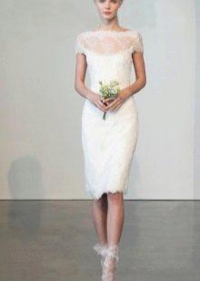 Туфли с кружевом к свадебному платью футляр