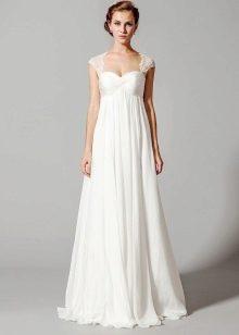 Свадебное платье с завышенной талией с бретелями