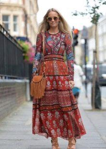 Длиное платье (хиппи) с этническим принтом