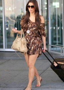 Короткое платье с камуфляжным принтом