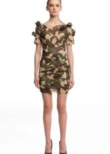 Короткое камуфляжное платье
