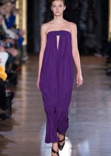 Фиолетовое платье трикотажное