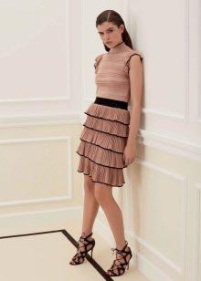 Платье с трикотажным верхом