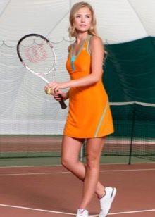 Трикотажное теннисное платье