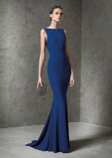 Платье русалка из трикотажа синее