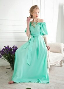 Трикотажное летнее платье в пол
