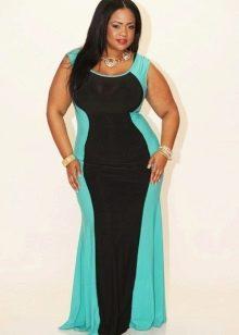 Трикотажное облегающее платье для полных