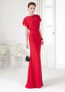 Весеннее платье с коротким рукавом