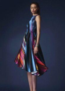 Вечернее разноцветное платье