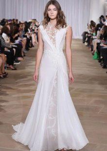 Платье свадебное с ажурными вставками