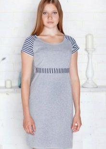 Домашнее платье-туника серого цвета