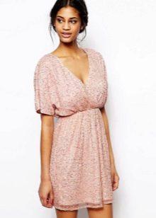 Короткое домашнее платье с завышенной талией