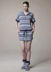 Короткое домашнее платье-туника