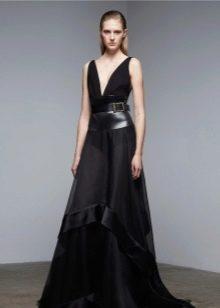 Кожаное платье вечернее комбинированое