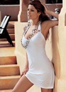 Белое купальное платье