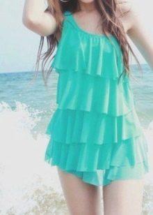 Купальное платье из микрофибры