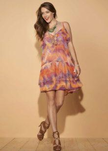 Летнее платье цветное