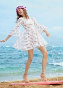 Летнее пляжное кружевное платье