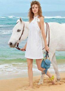 Летнее пляжное  платье с американской проймой