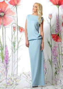 Платье из трикотажа летнее в пол