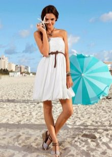 Платье из трикотажа летнее короткое