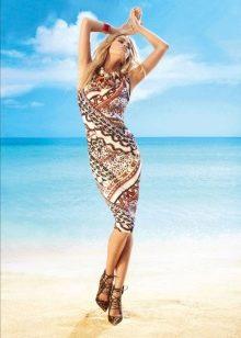 Летнее платье футляр с принтом