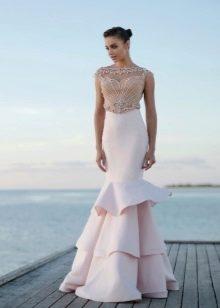 Летнее платье русалка с пышным хвостом
