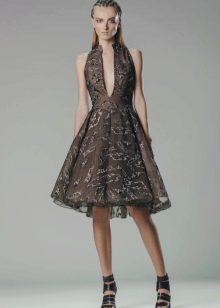 Короткое пышное летнее платье