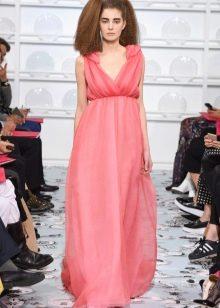 Летнее платье ампир розовое