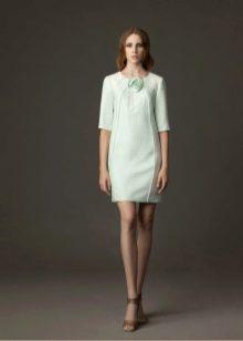 Платье для работы офисное белое