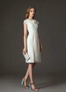 Платье для работы офисное до колена