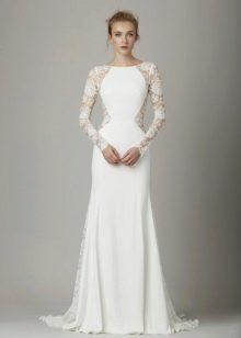 Осеннее платье свадебное