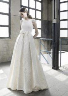 Осеннее платье свадебное в пол