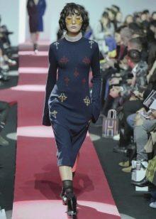 Осеннее платье вязаное