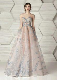 Платье без бретелей вечернее от Элионор Кутюр
