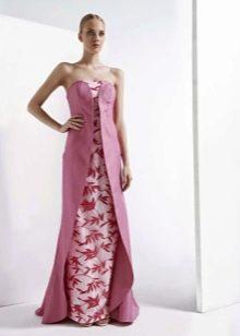 Платье без бретелей розовое