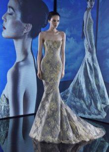 Платье без бретелей рыбка