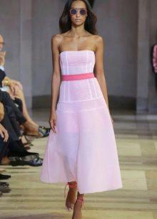 Платье без бретелей А-силуэта от К. Херера