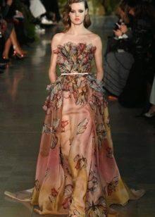 Платье без бретелей от Эли Сааба