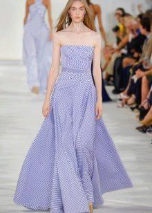 Платье без бретелей в морском стиле