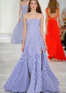Платье без бретелей дизайнерское