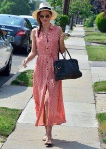Шляпа и сумка к длинному платью-халат